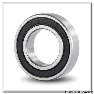 40 mm x 62 mm x 12 mm  KOYO 3NCHAR908C angular contact ball bearings