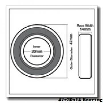 20 mm x 47 mm x 14 mm  SKF 7204 CD/HCP4A angular contact ball bearings