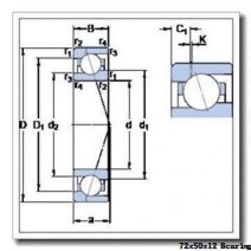 50 mm x 72 mm x 12 mm  SKF 71910 CE/HCP4AL angular contact ball bearings