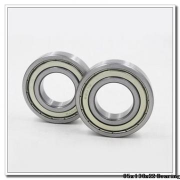 85 mm x 130 mm x 22 mm  ISO 7017 A angular contact ball bearings