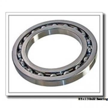 85 mm x 130 mm x 22 mm  ISO 7017 B angular contact ball bearings