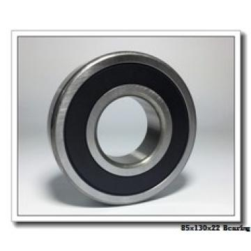 85 mm x 130 mm x 22 mm  KOYO 3NCHAR017CA angular contact ball bearings