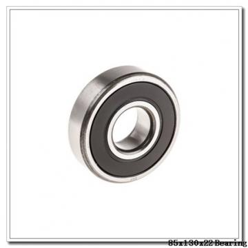 85 mm x 130 mm x 22 mm  NSK QJ1017 angular contact ball bearings