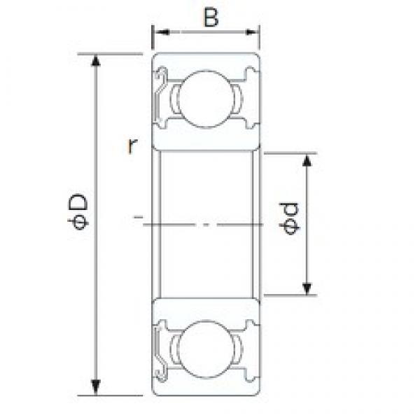 85 mm x 130 mm x 22 mm  NACHI 6017Z deep groove ball bearings #3 image
