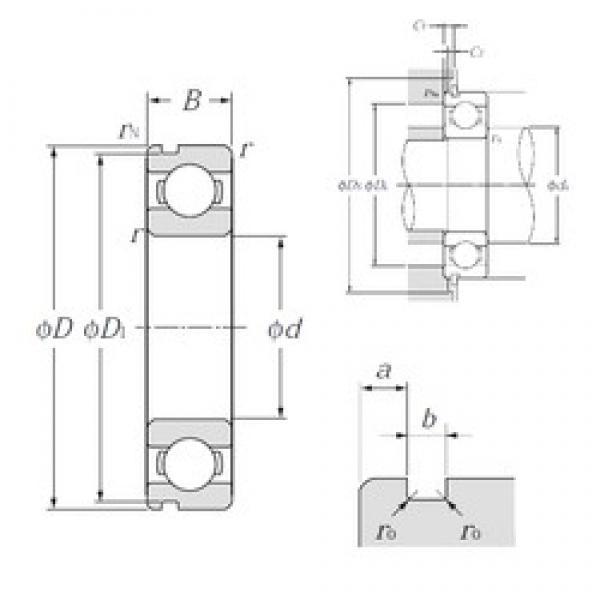 25 mm x 52 mm x 15 mm  NTN 6205N deep groove ball bearings #3 image
