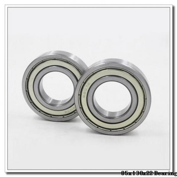 85 mm x 130 mm x 22 mm  NACHI 6017Z deep groove ball bearings #1 image